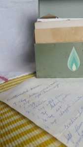 Grandma's well loved recipe box