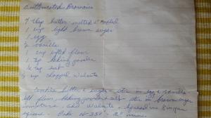 Butterscotch Brownies, Grandma's handwritten recipe.