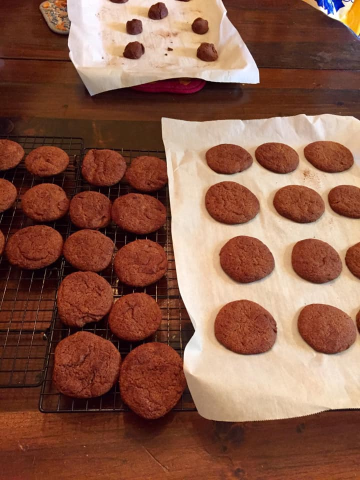 Baked and raw drop molasses cookies